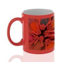 Кружка для сублимации керамика хамелеон красная 330мл