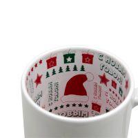 """Кружка керамика белая принт внутри """"С Новым годом и Рождеством"""" 330мл"""