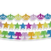 Набор гирлянд корона/звезда/пальма разноцветный 3 штуки (4 метра)