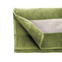 Полотенце махровое 30*70 см, 400 г/м2, хлопок, с 1 полем под сублимацию, зеленый (581)