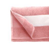 Полотенце махровое 50*100 см, 400 г/м2, хлопок, с 1 полем под сублимацию, розовый (12-1708TPX)