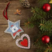 Рамка-подвеска звезда/сердце 91х93х5мм