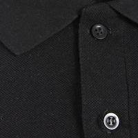Рубашка поло Premium, мужская, черная, хлопок, 44 (XS)