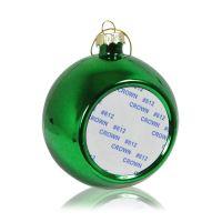 Шар елочный стекло зелёный (со вставкой для сублимации D51мм) D80мм