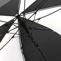 Зонт белый с черными вставками D130см